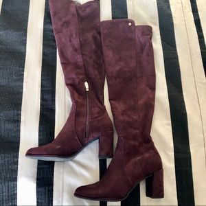❣️ Knee High Suede Boots with Chunky Heel